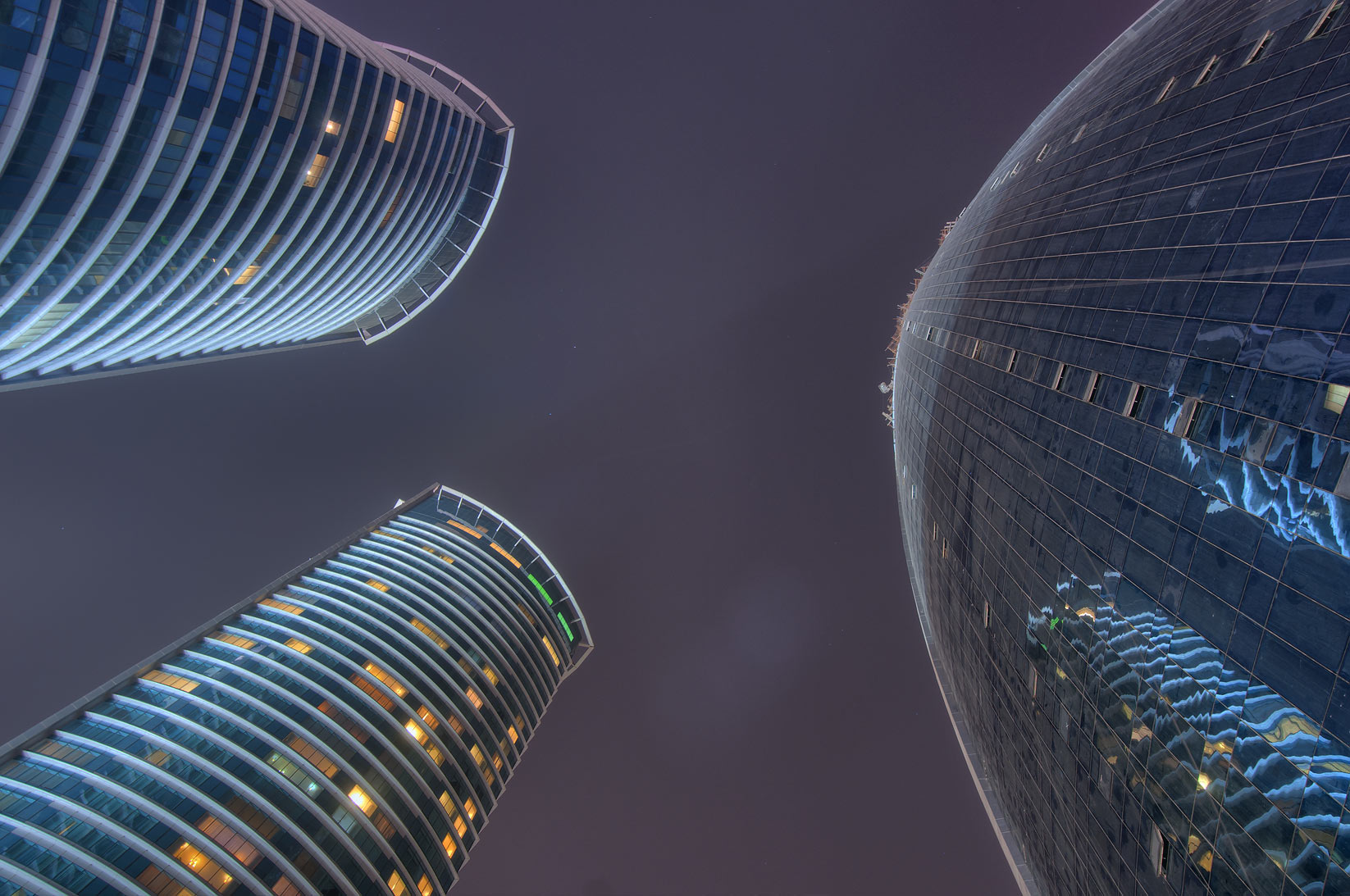 Twin Al Fardan and Woqod towers in West Bay. Doha, Qatar
