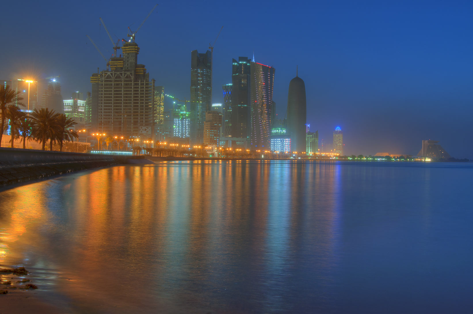West Bay, view from Corniche (seafront promenade). Doha, Qatar
