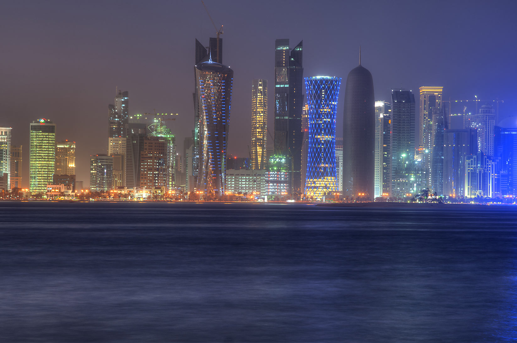 West Bay district from Corniche. Doha, Qatar