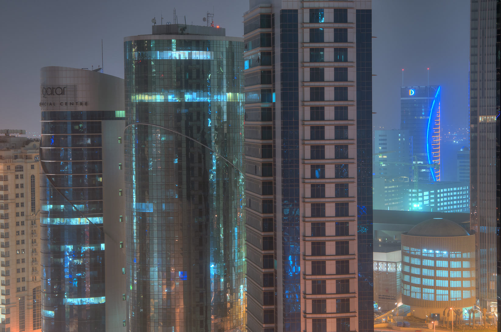 Business offices and a corner of City Center Mall...2303 of ASAS Tower West. Doha, Qatar