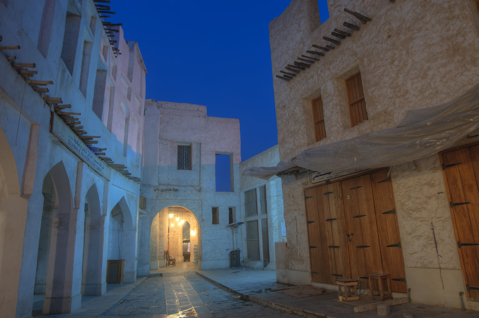 Alley in Souq Waqif (Old Market) at morning. Doha, Qatar