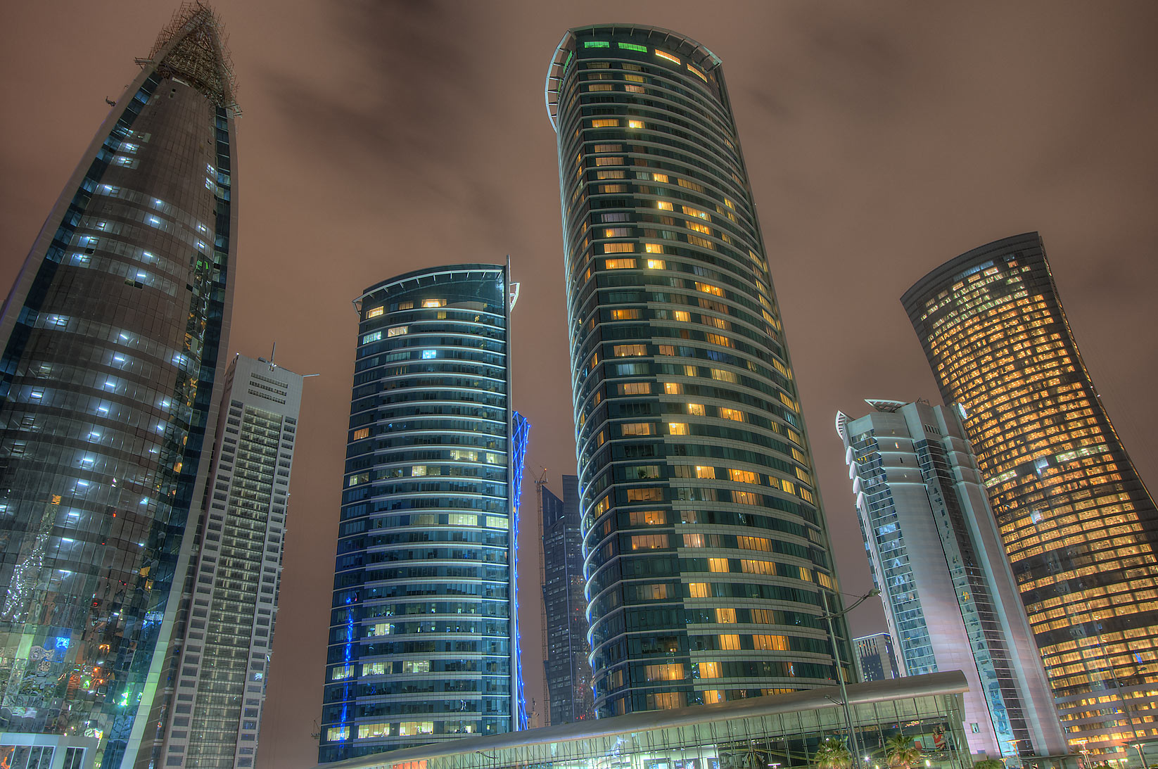 West Bay towers from a backyard of City Center Mall. Doha, Qatar