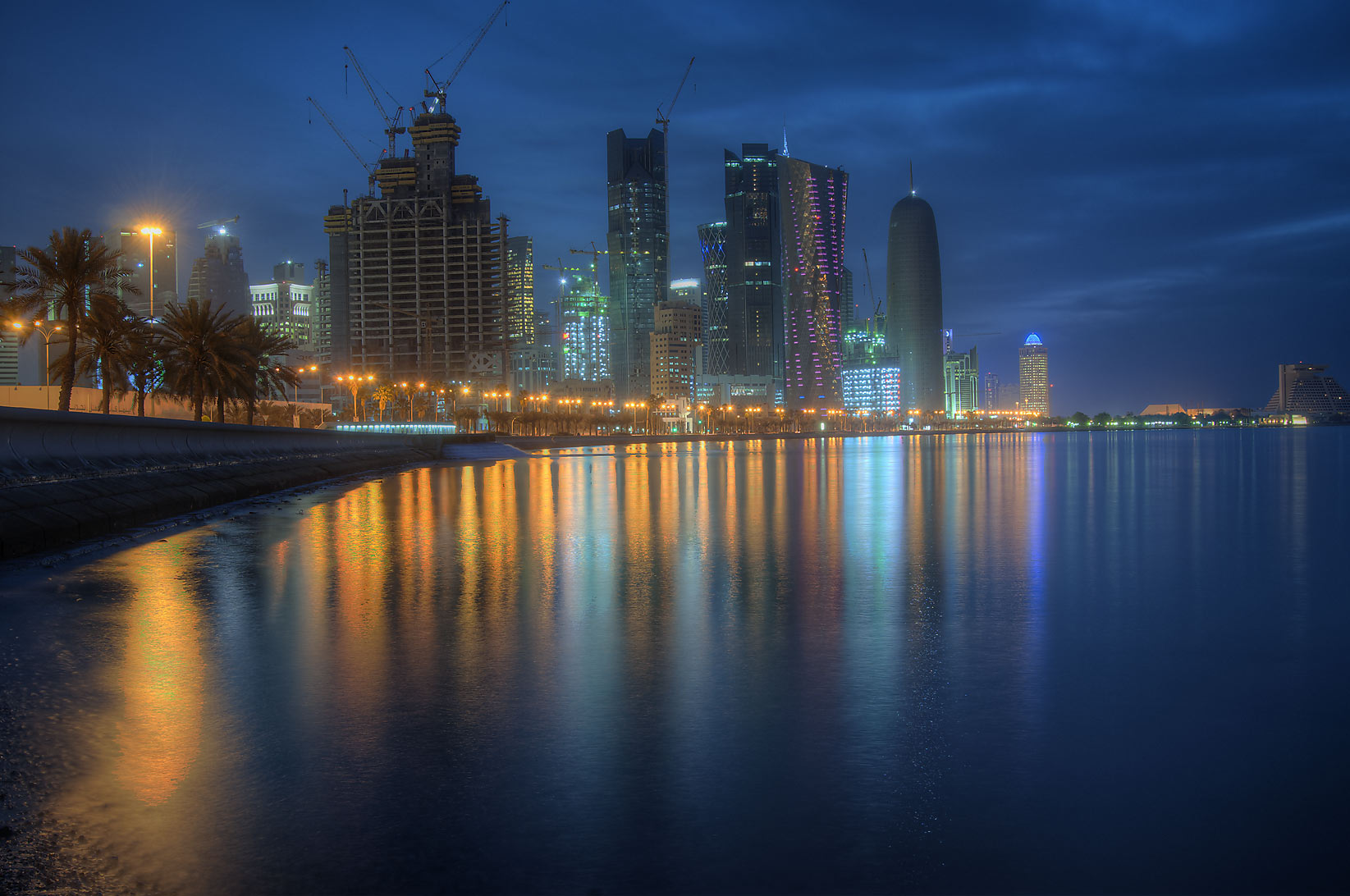 West Bay from Corniche at morning. Doha, Qatar