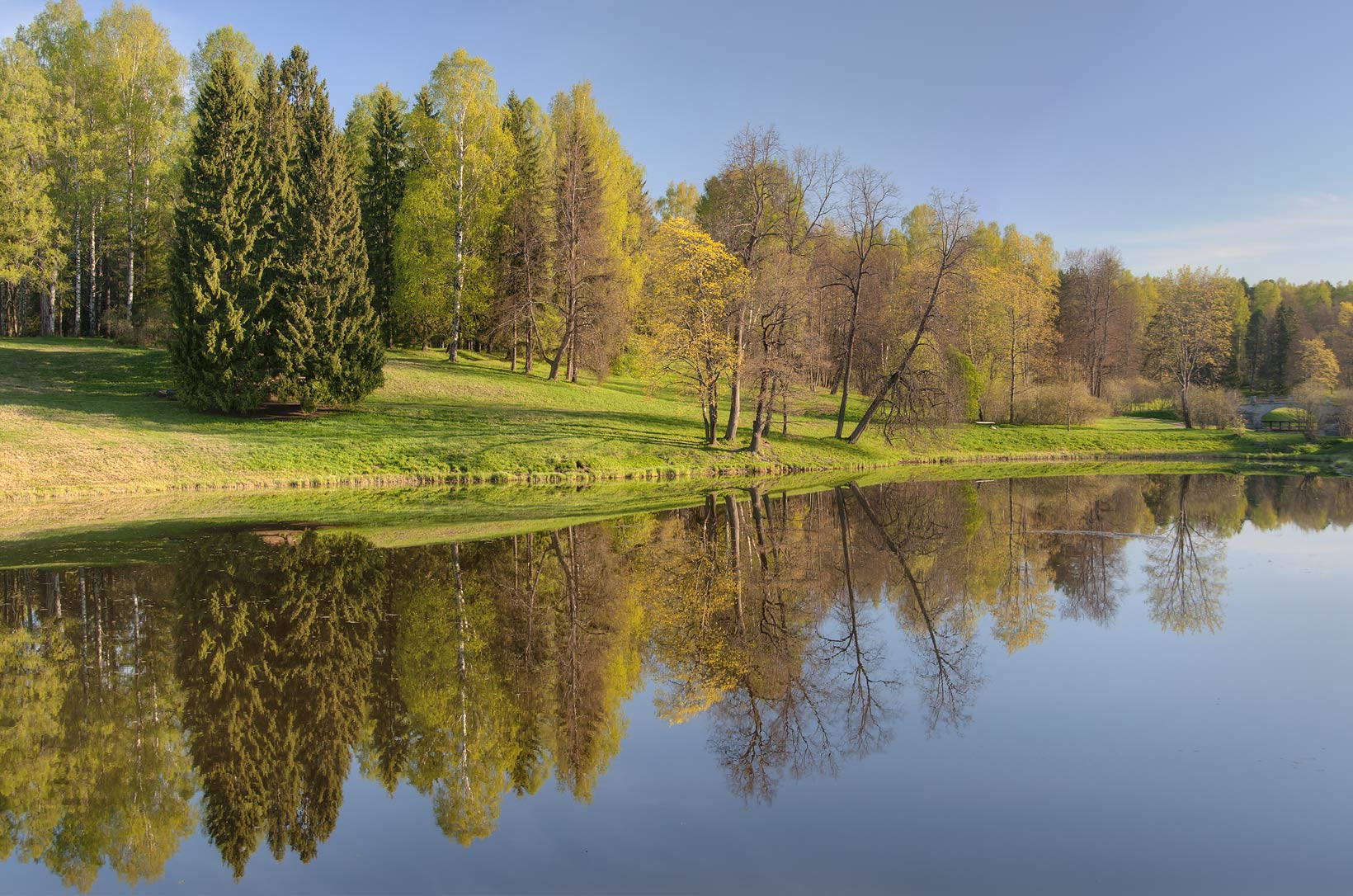 Viskontiev Pond in Pavlovsk Park, suburb of St.Petersburg. Russia