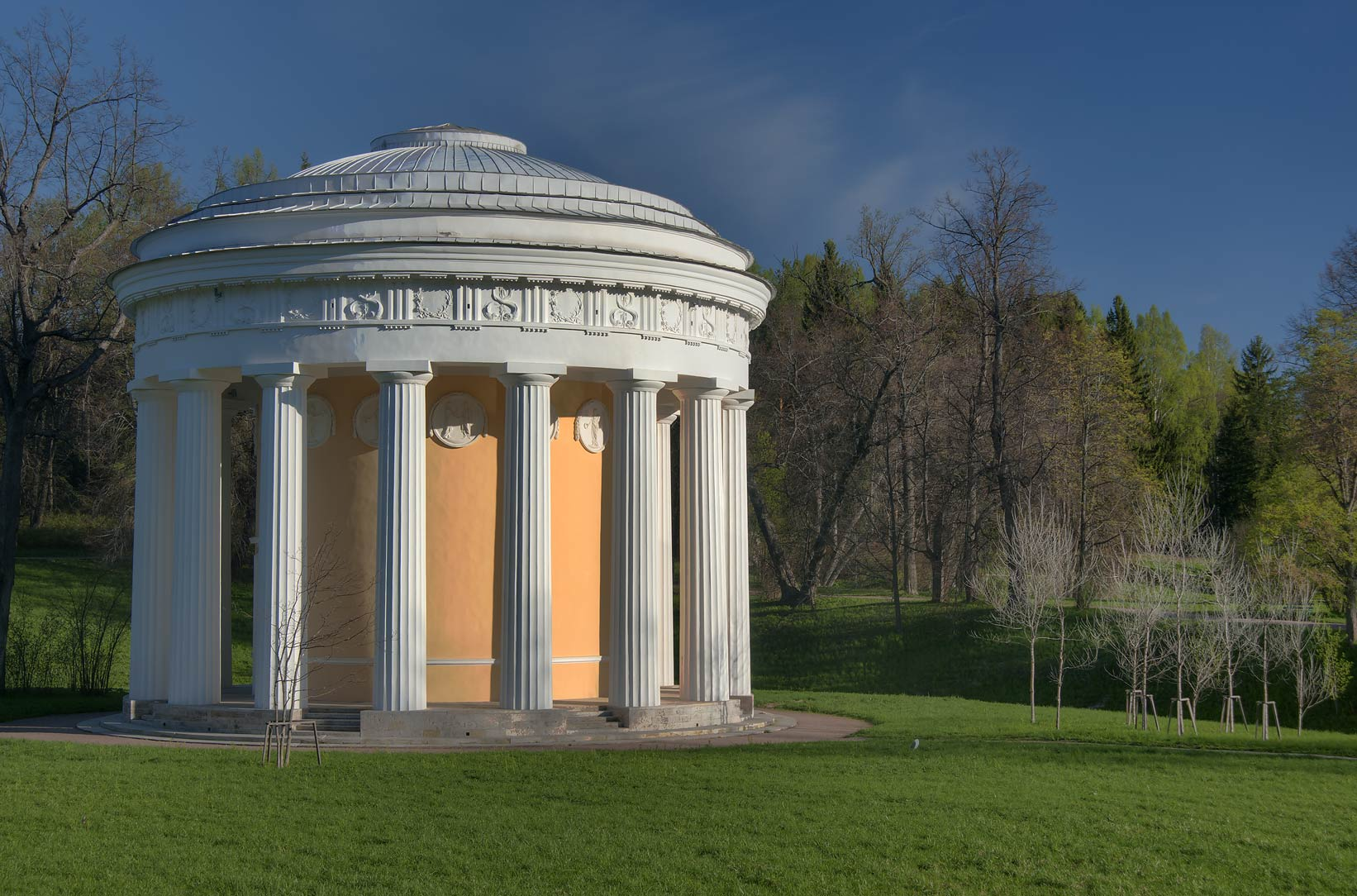 Friendship Temple building in Pavlovsk Park, suburb of St.Petersburg. Russia
