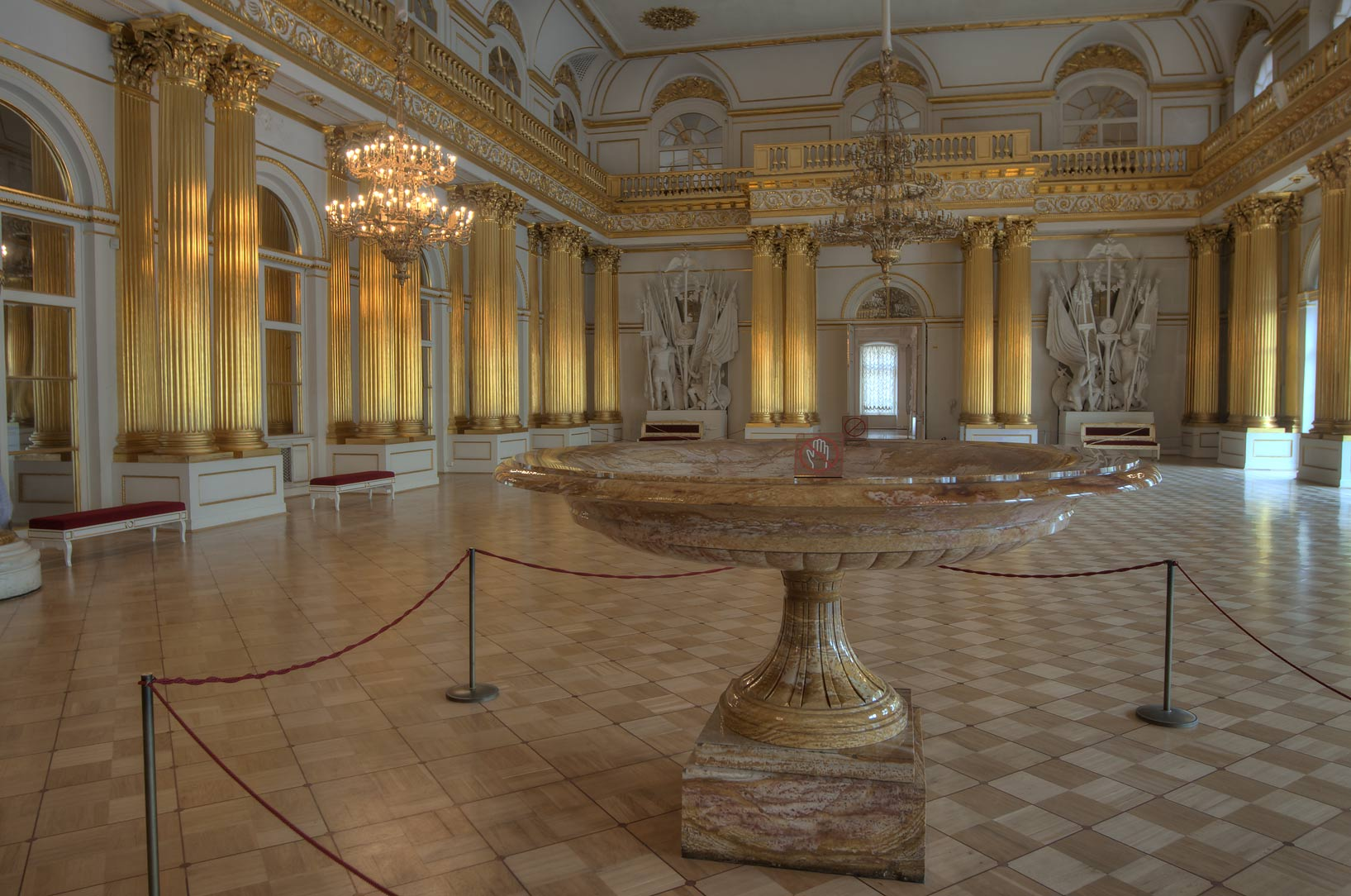 Armorial Hall (Gerbovy Zal, Emblem Hall) in Hermitage Museum. St.Petersburg, Russia