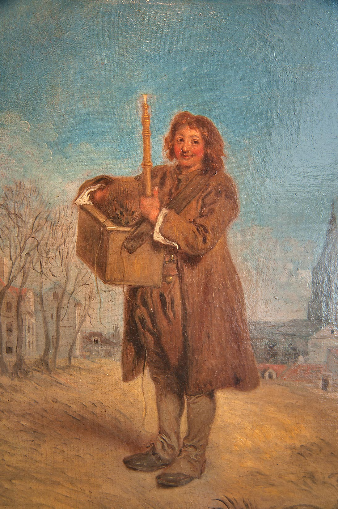 "Painting of Antoine Watteau ""Savoyard with a...Museum. St.Petersburg, Russia"