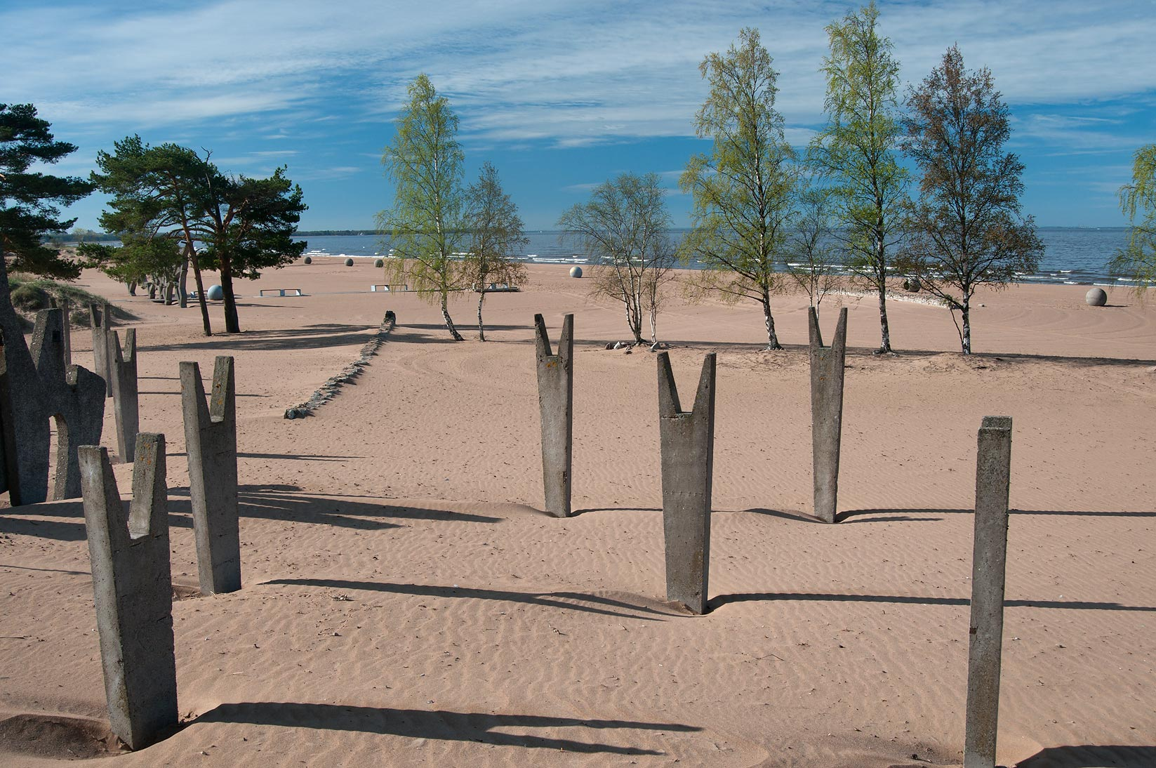 Public sculptures on Laskovy Beach in Solnechnoe, a suburb of St.Petersburg. Russia
