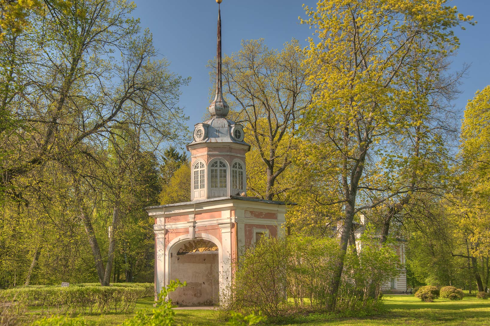 Petershtadt Gates in a park in Lomonosov (Oranienbaum). West from St.Petersburg, Russia