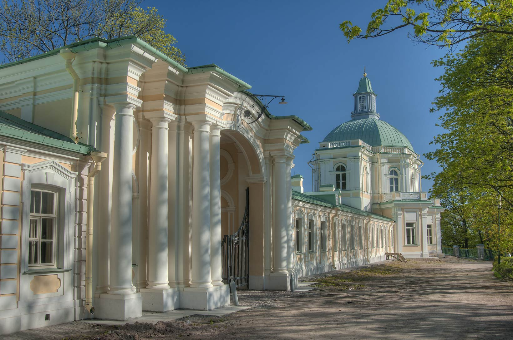 East wing of Menshikov Palace in Lomonosov (Oranienbaum). West from St.Petersburg, Russia