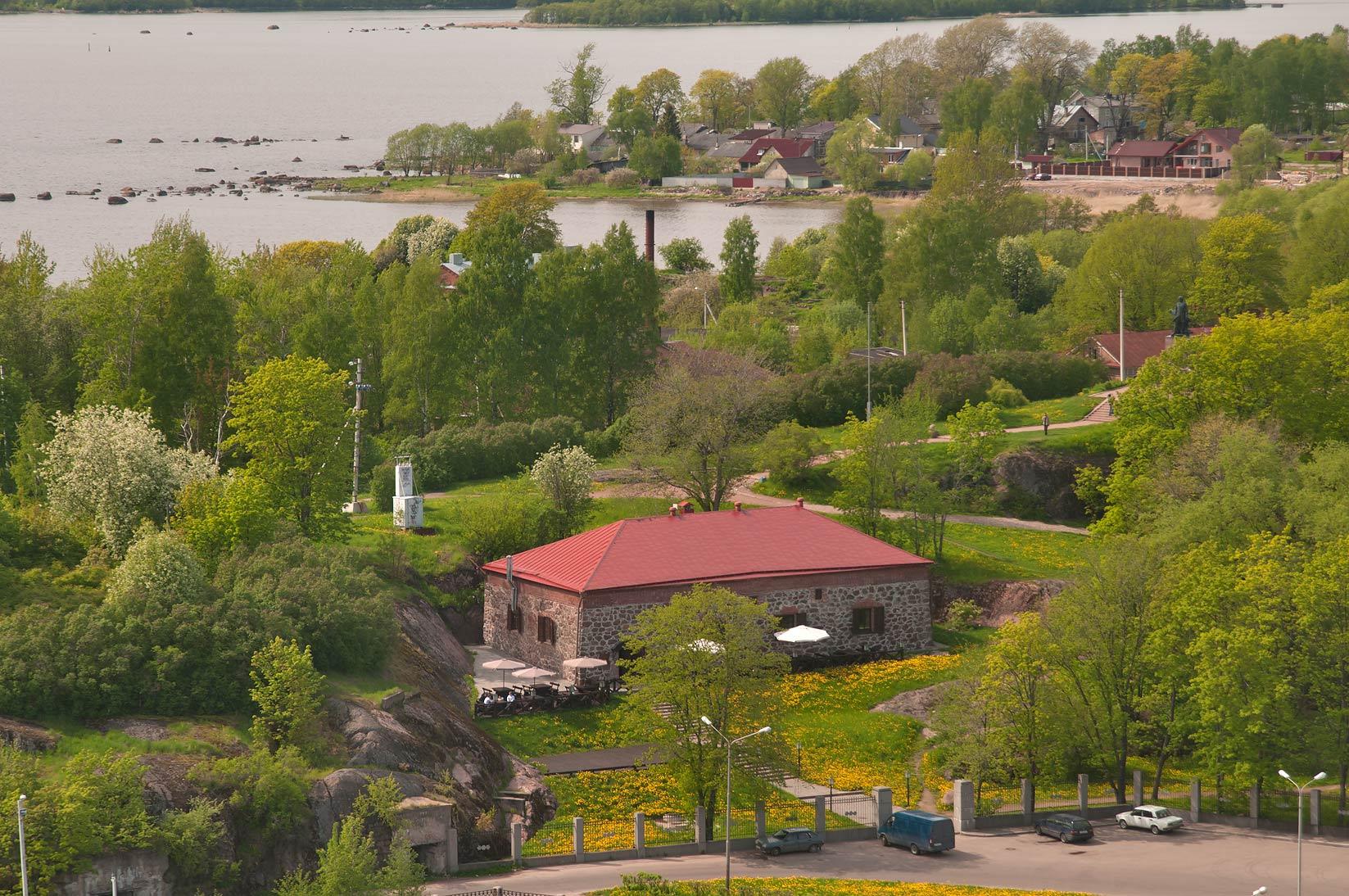 Old powder bunker west from St.Olaf Tower of Vyborg Castle. Vyborg, Russia