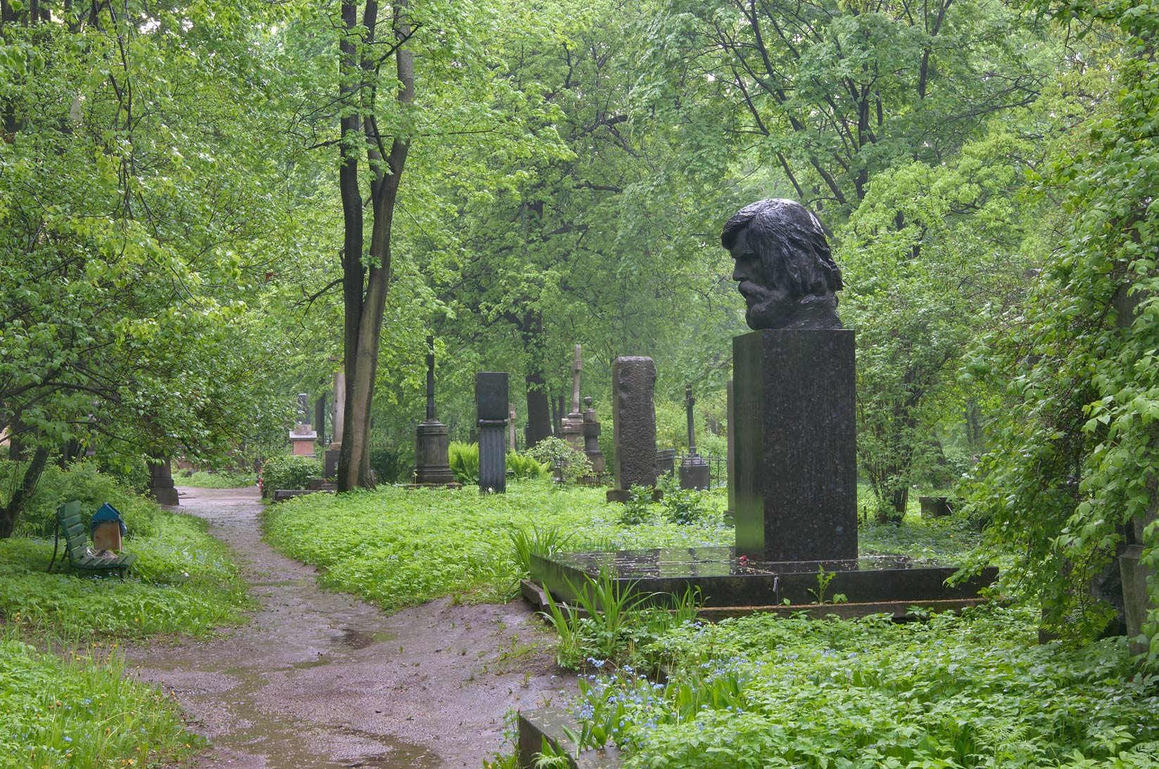 Tomb of a physiologist V. M. Bekhterev in...Cemetery. St.Petersburg, Russia