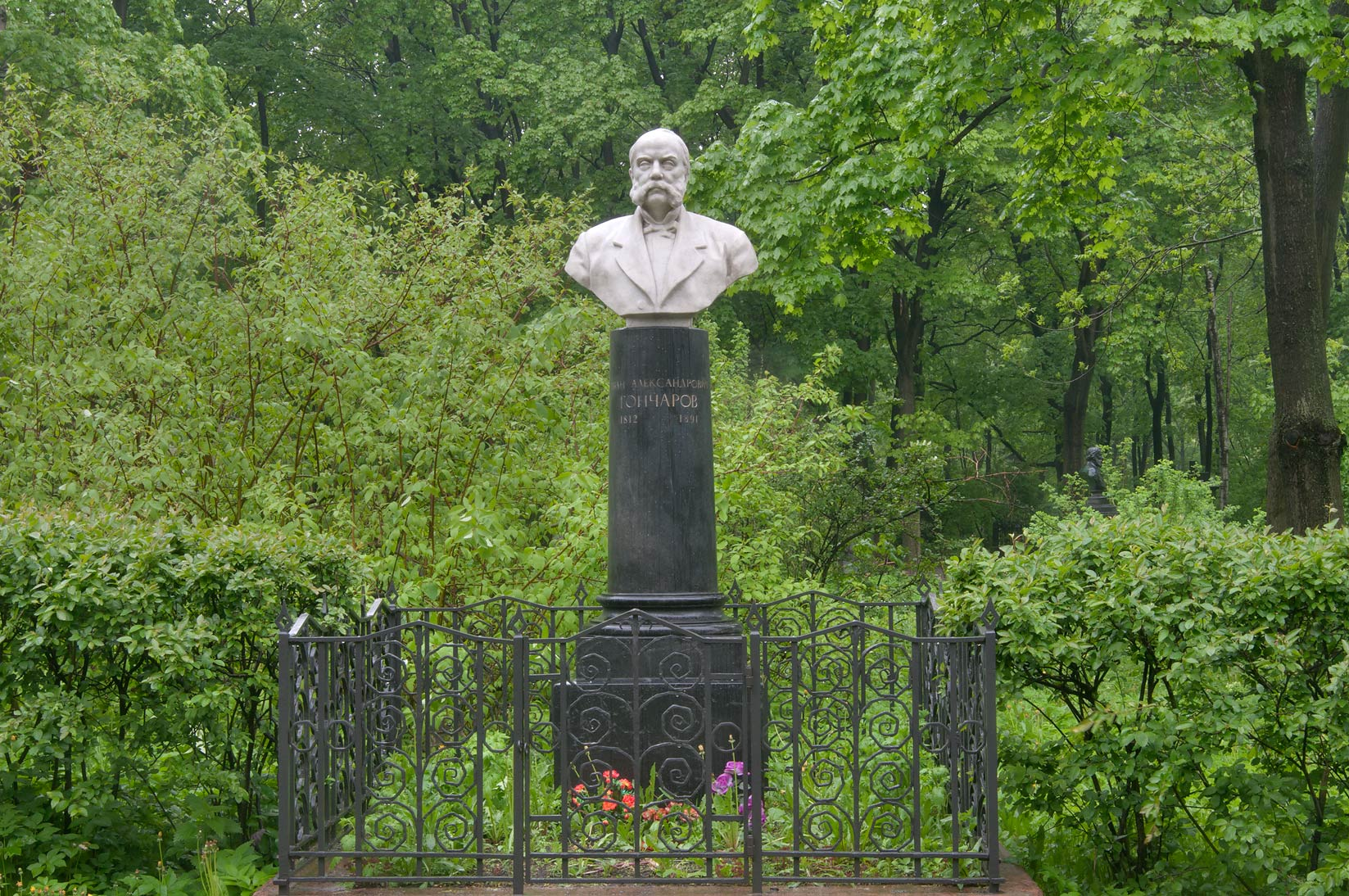 Tomb of a novelist I. A. Goncharov in...Cemetery. St.Petersburg, Russia