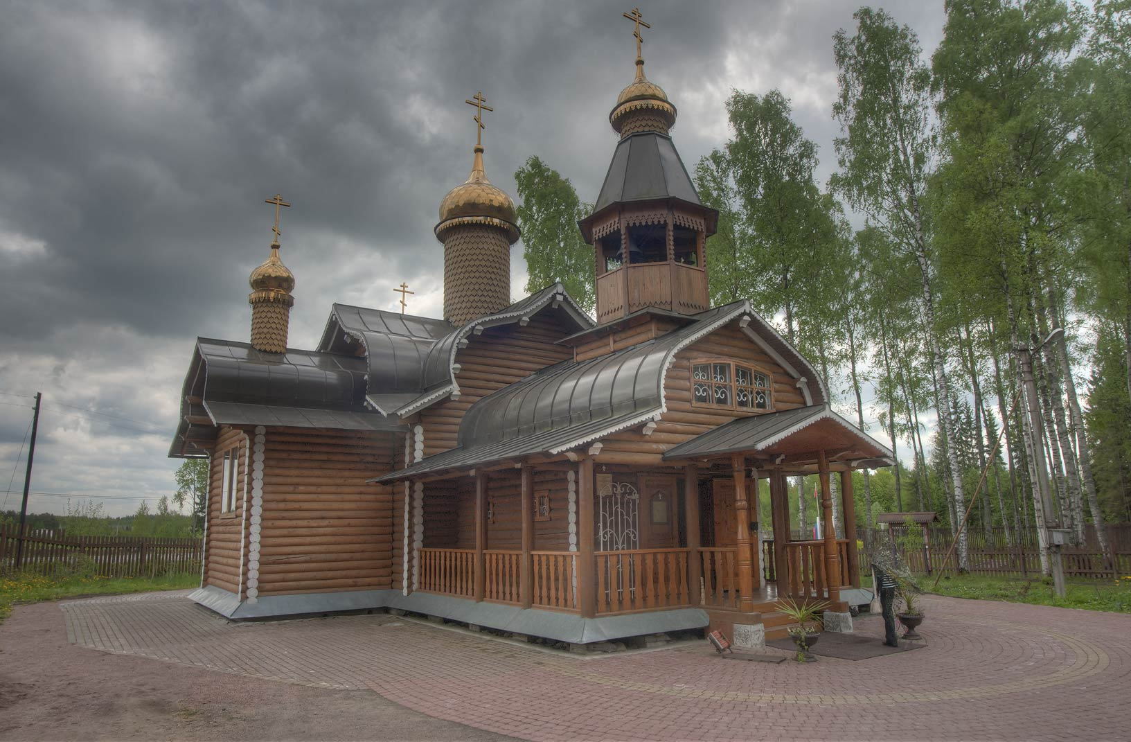 Church of Boris and Gleb (built in 1999-2001) in...North from St.Petersburg, Russia
