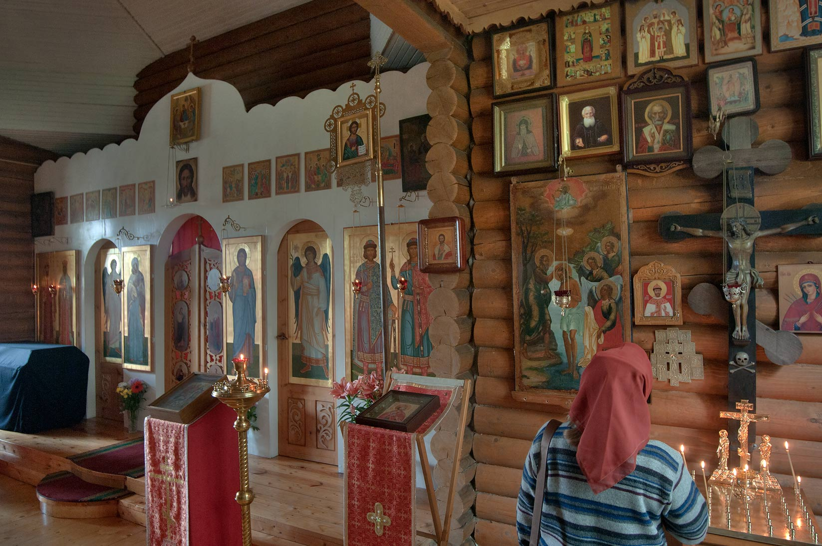 Interior of Church of Boris and Gleb in Agalatovo. North from St.Petersburg, Russia