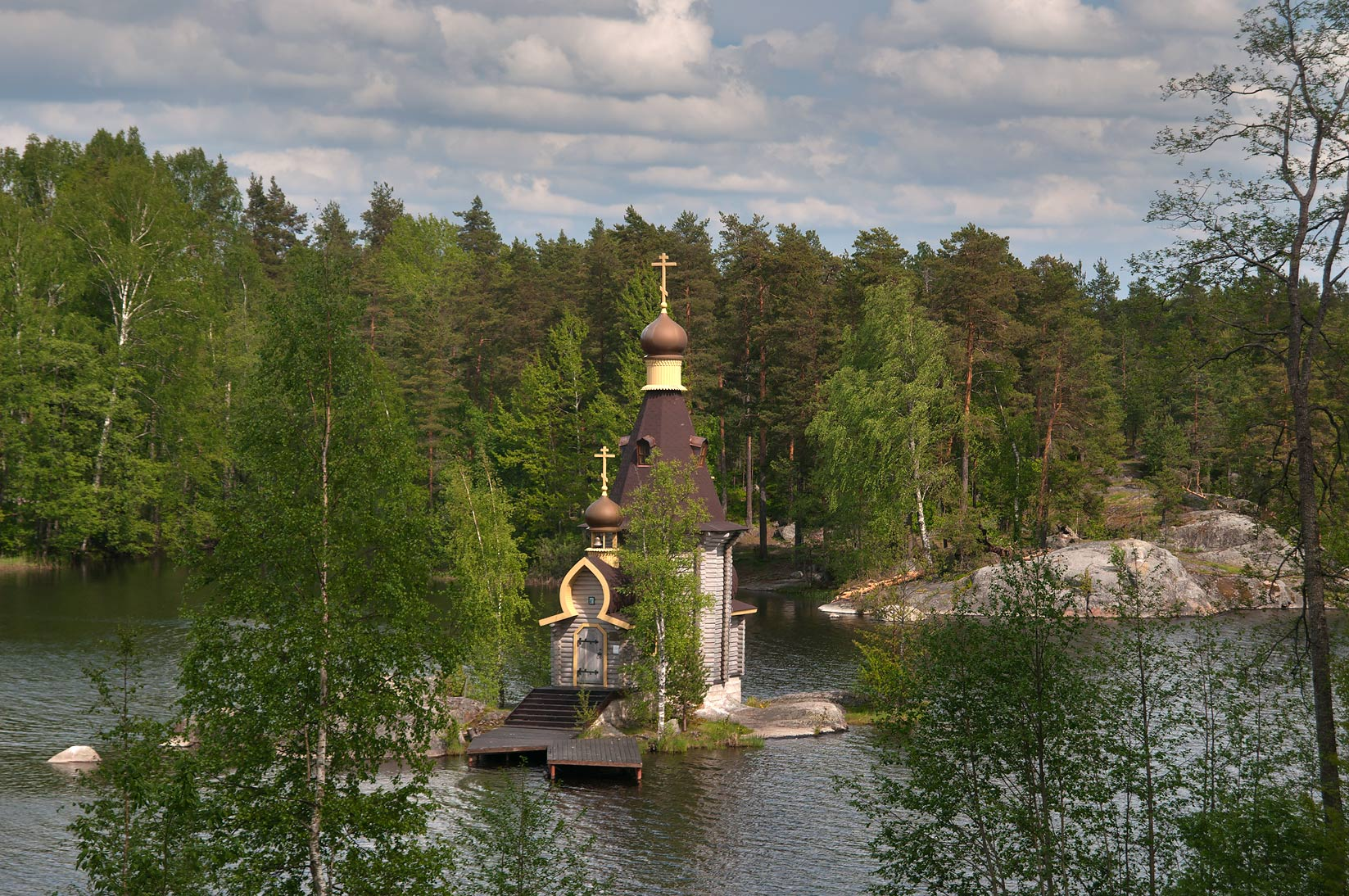 Chapel built on Vuoksa River (Andrey Pervozvanny...north from St.Petersburg, Russia