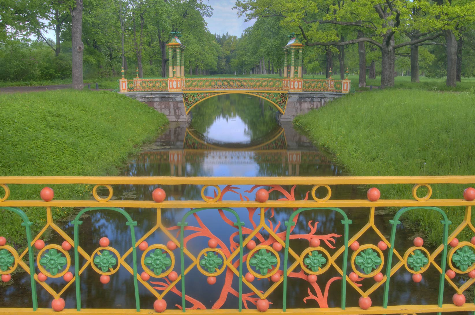 Small Chinese Bridges in Aleksandrovsky Park...south from St.Petersburg, Russia