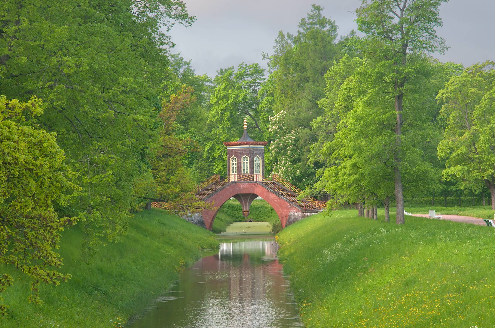 Krestovy Canal and Cross Bridge (Krestovy Most...south from St.Petersburg, Russia