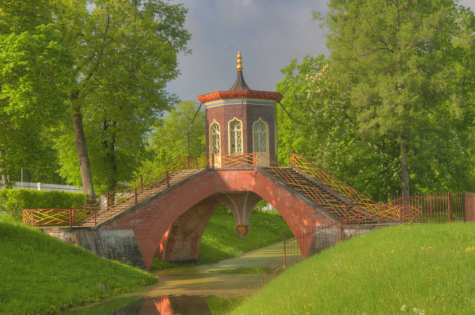 Cross Bridge (Krestovy Most). Pushkin (former...south from St.Petersburg, Russia