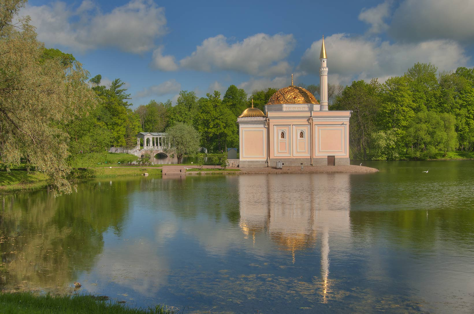 Turkish Bath Pavilion (1850-1852) in...south from St.Petersburg, Russia