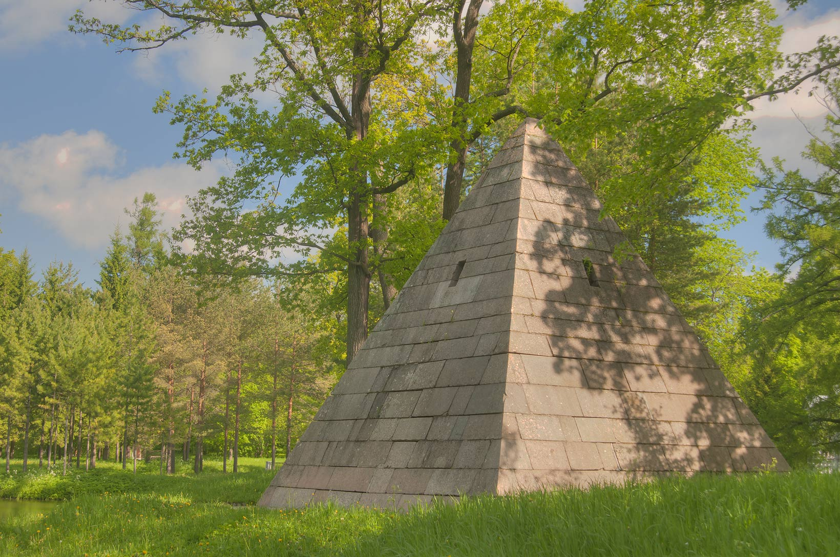 Pyramid in Ekaterininsky Park. Pushkin (former...south from St.Petersburg, Russia