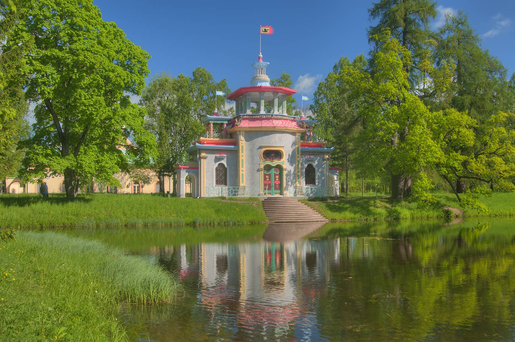 Chinese Summer House (Creaking, or Pagoda, 1778...south from St.Petersburg, Russia