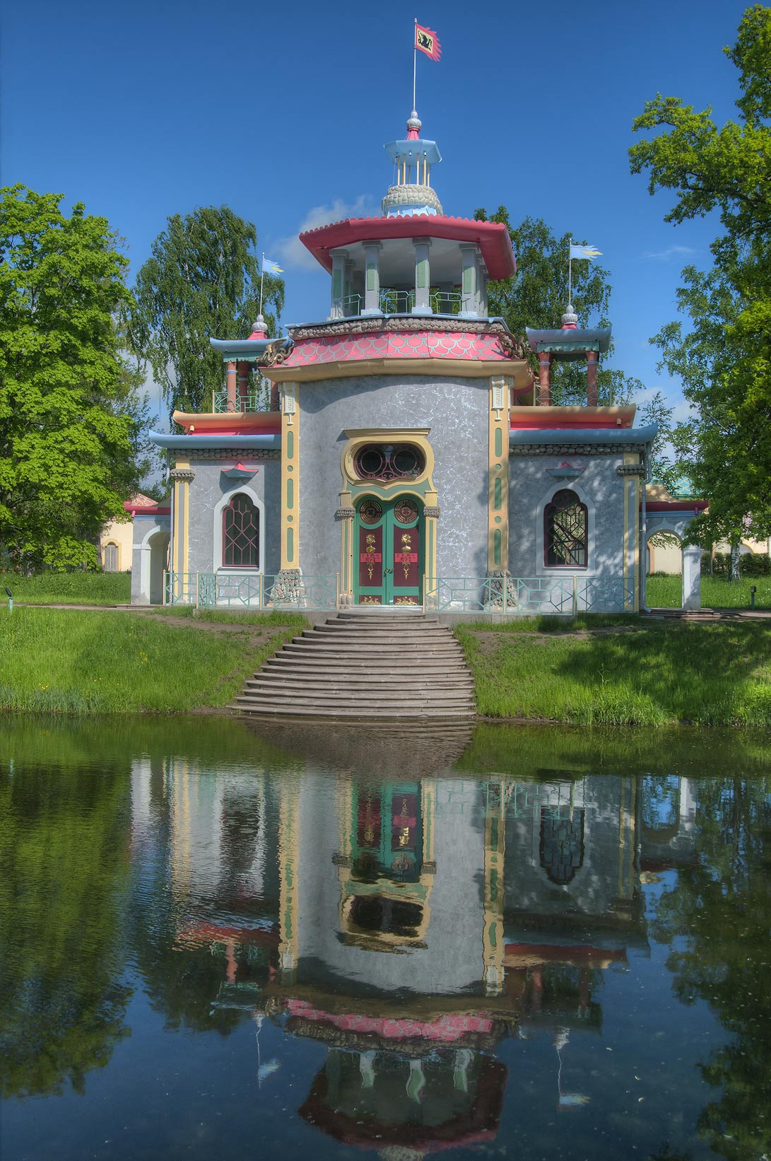 Reflection of Chinese Summer House (Creaking, or...south from St.Petersburg, Russia