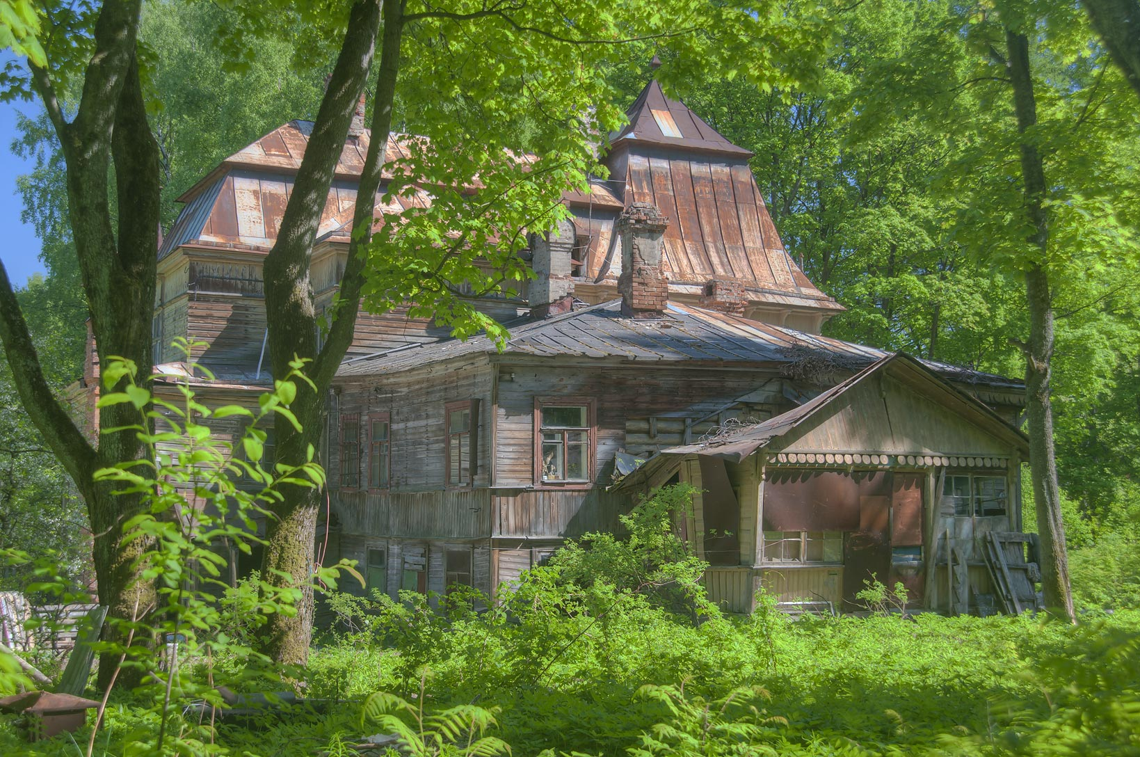 Dacha (summer house) of G. E. Mesmakher in Shuvalovo Park. St.Petersburg, Russia