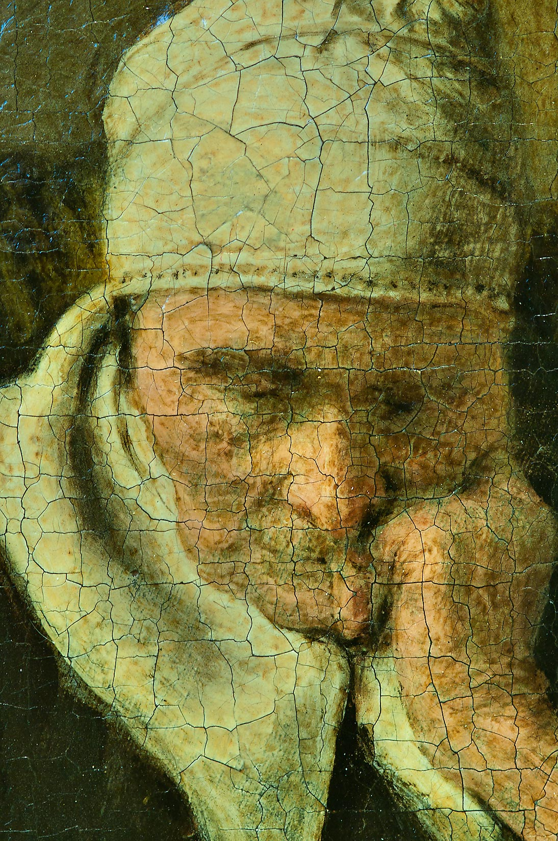Fragment of a painting (Nicolaes Maes, Old woman...Museum. St.Petersburg, Russia