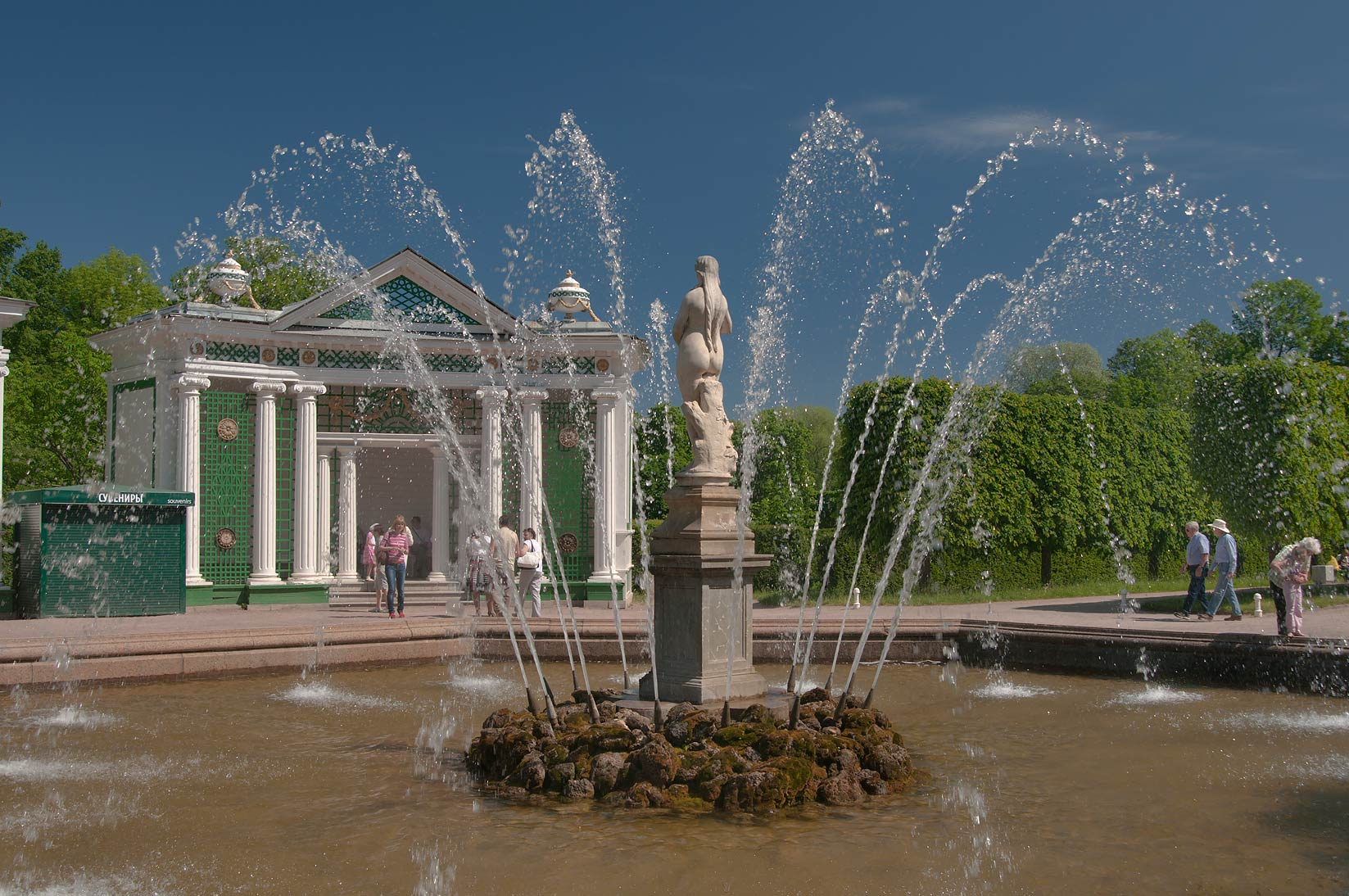 Venus fountain in peterhof west from saint petersburg russia june 6