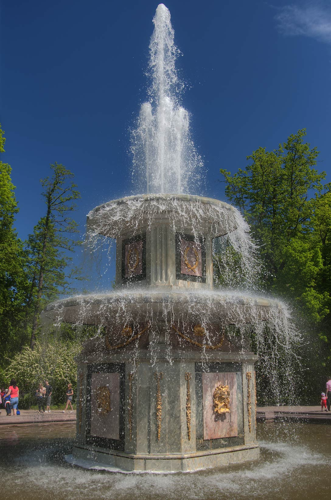 Rome Fountain in Peterhof, west from St.Petersburg. Russia