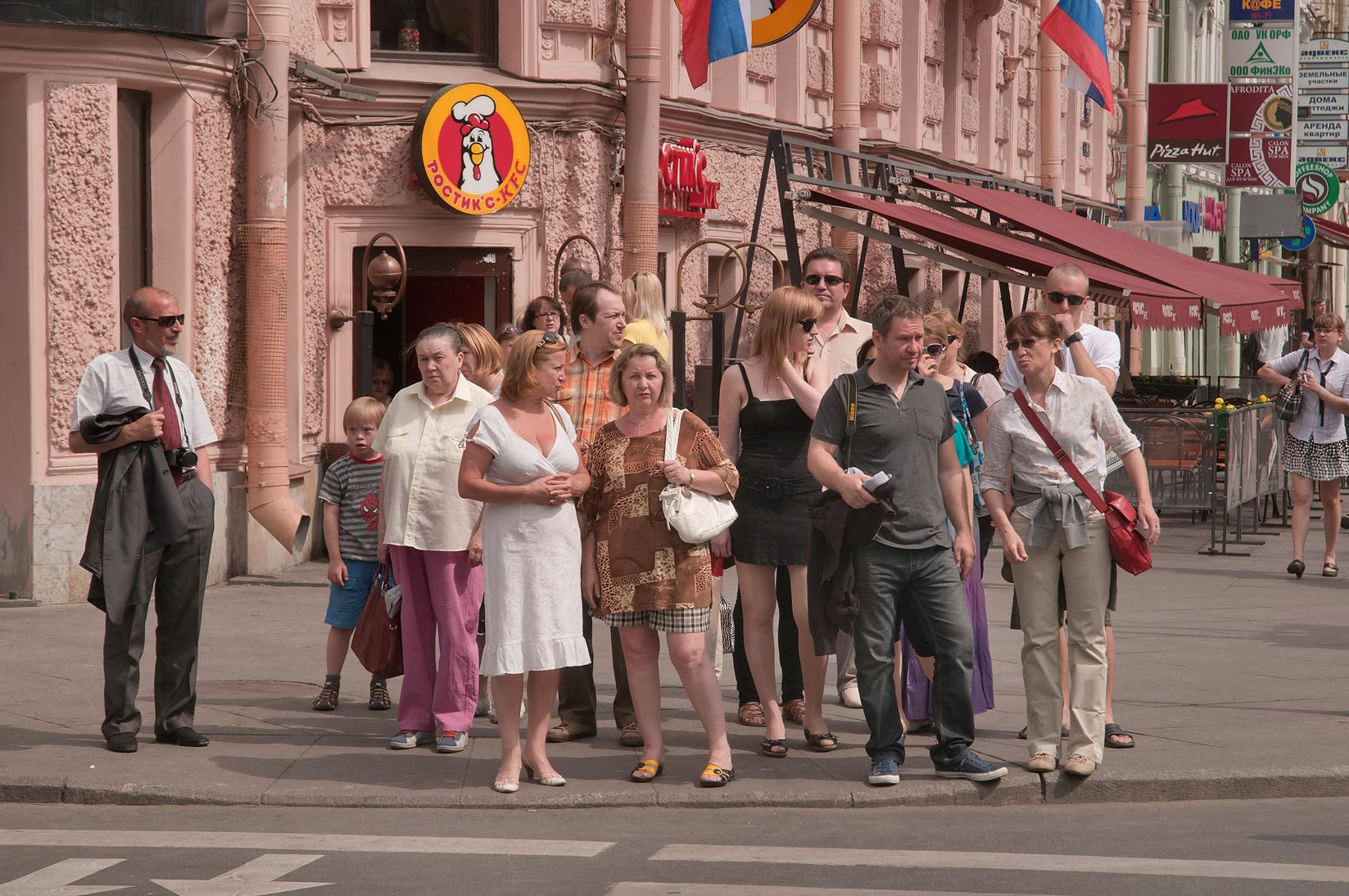 Pedestrian crossing at Nevsky Prospect. St.Petersburg, Russia