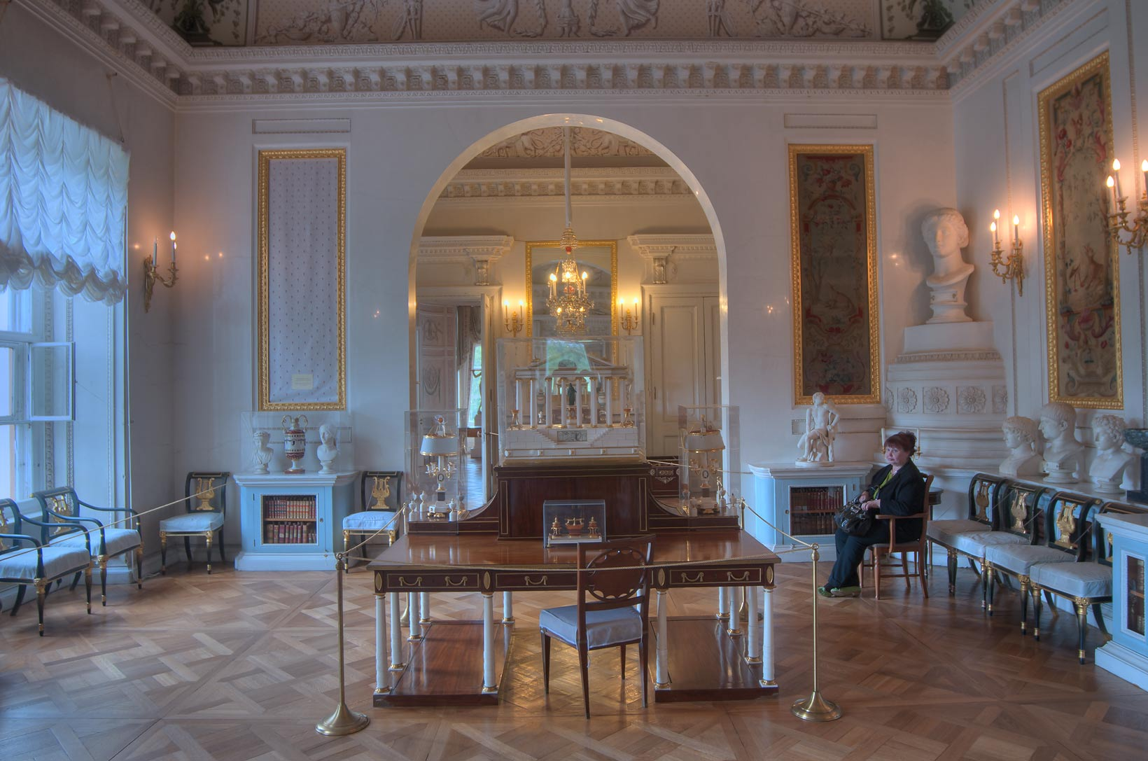 A hall of Pavlovsky Palace. Pavlovsk, a suburb of St.Petersburg, Russia