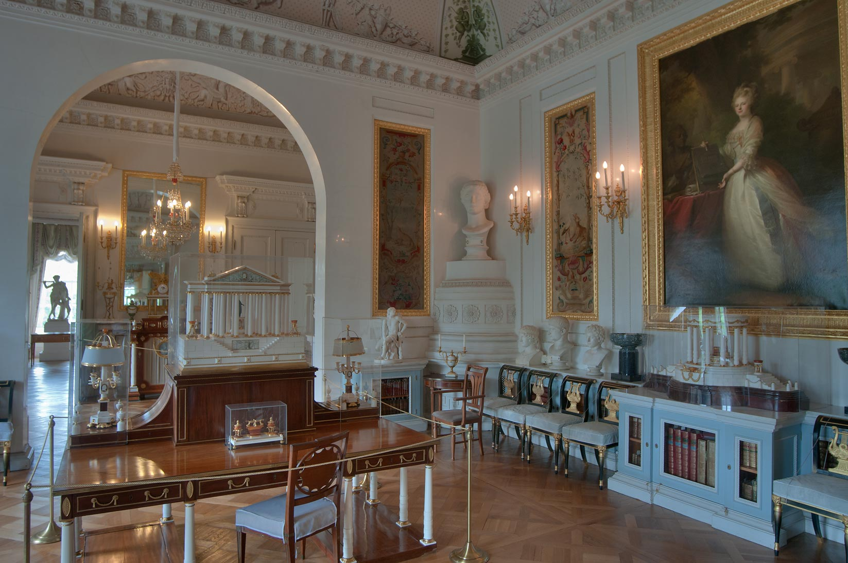 A hall in Pavlovsky Palace. Pavlovsk, a suburb of St.Petersburg, Russia