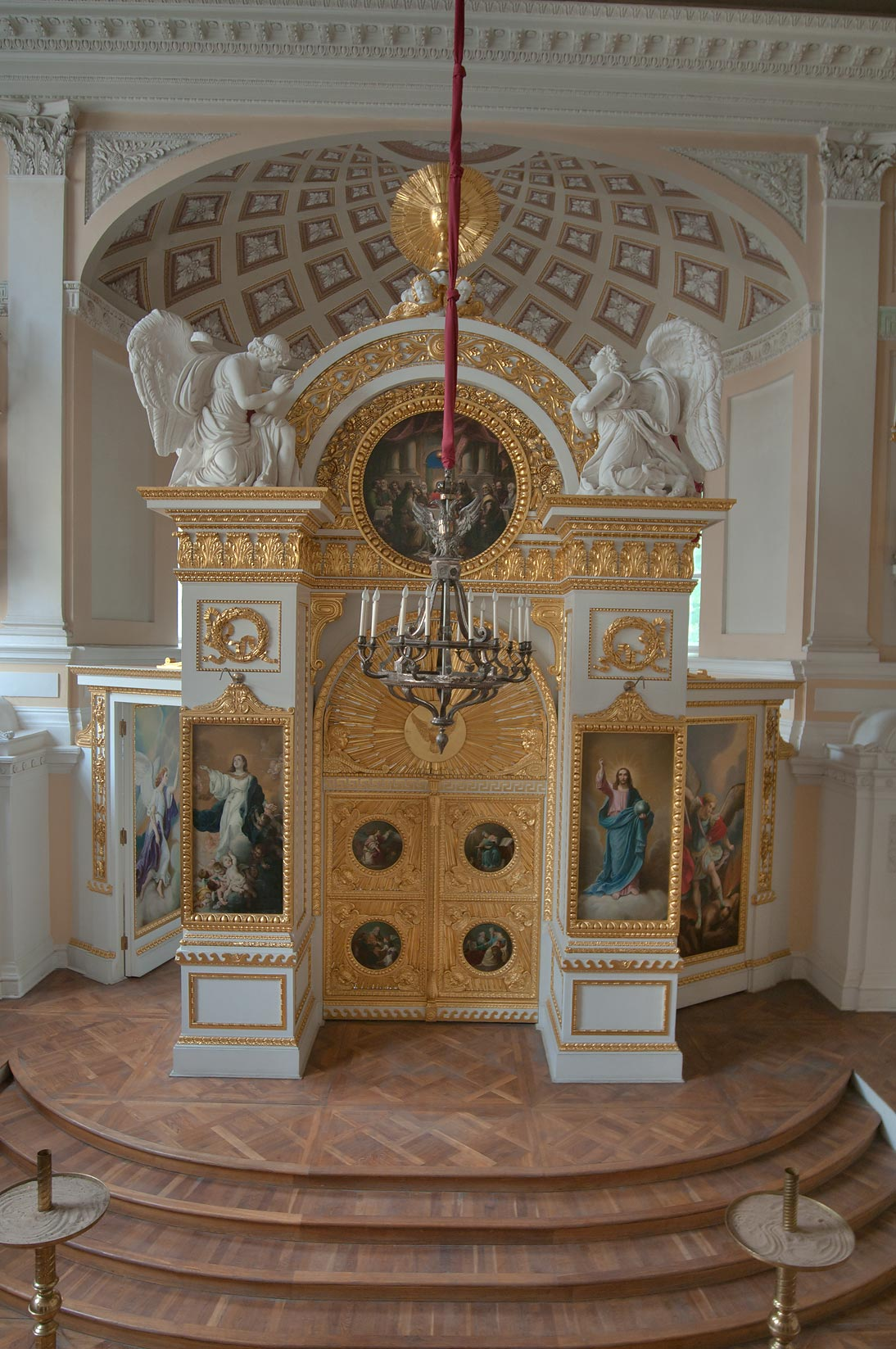 Church altar in Pavlovsky Palace. Pavlovsk, a suburb of St.Petersburg, Russia