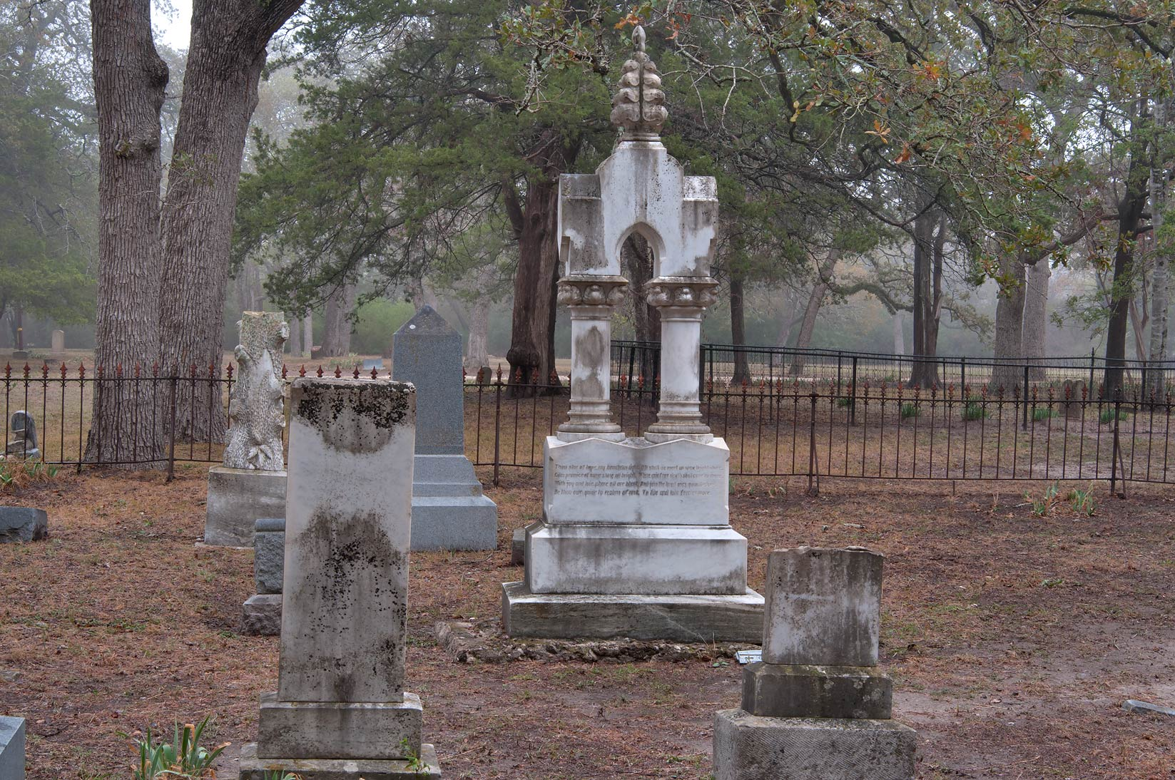 Tombs of Boonville Cemetery. Bryan, Texas