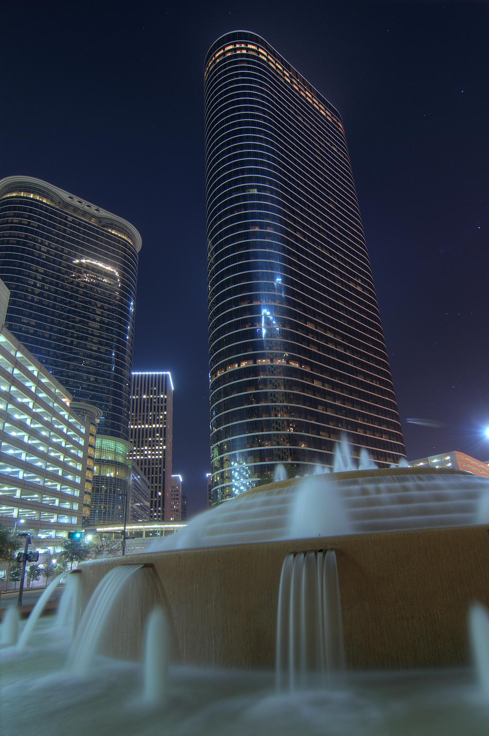 Washington-on-the-Brazos-Houston, Texas  - Fountain in downtown Houston. Texas