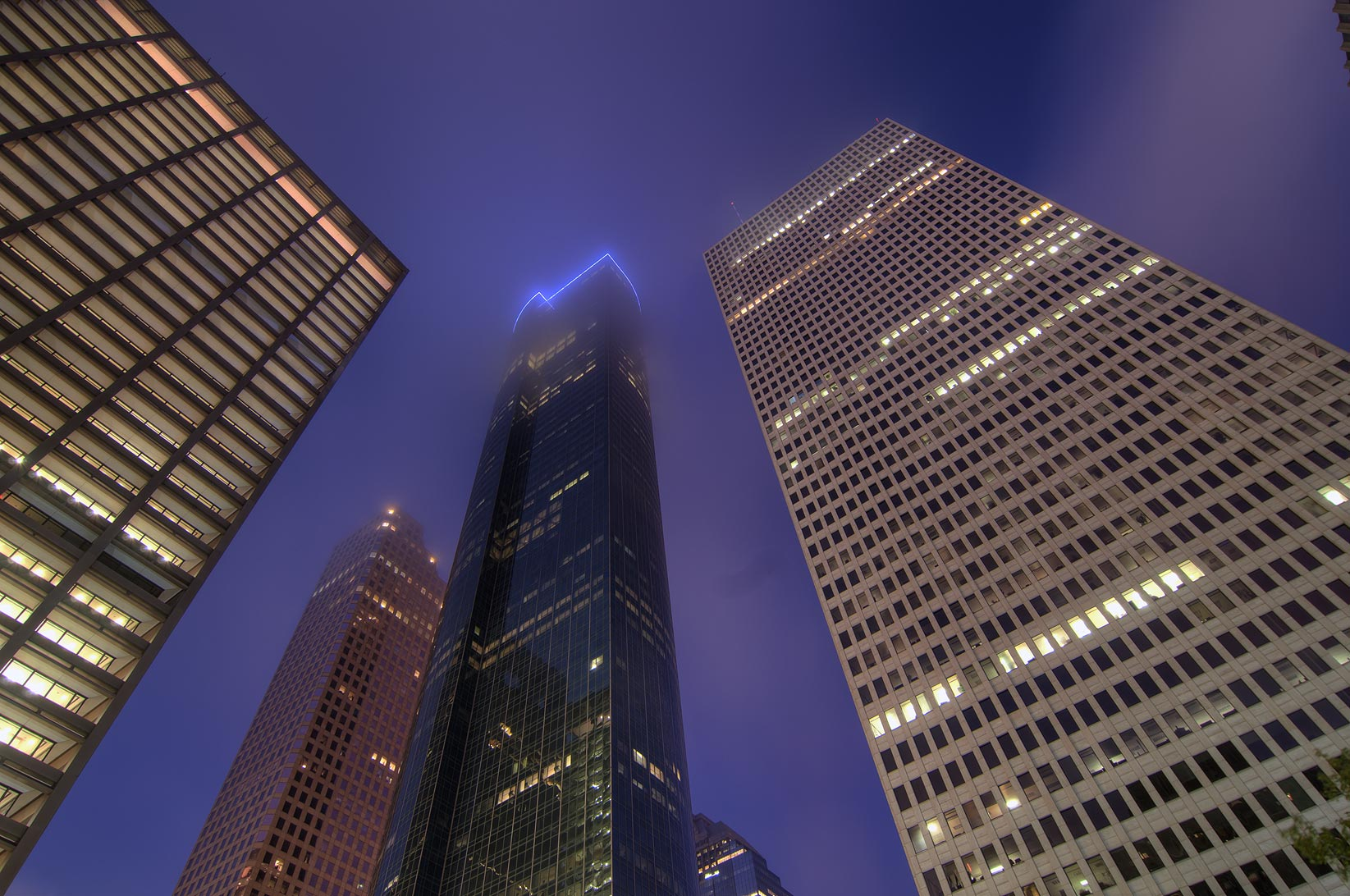 Towers in downtown at morning. Houston, Texas