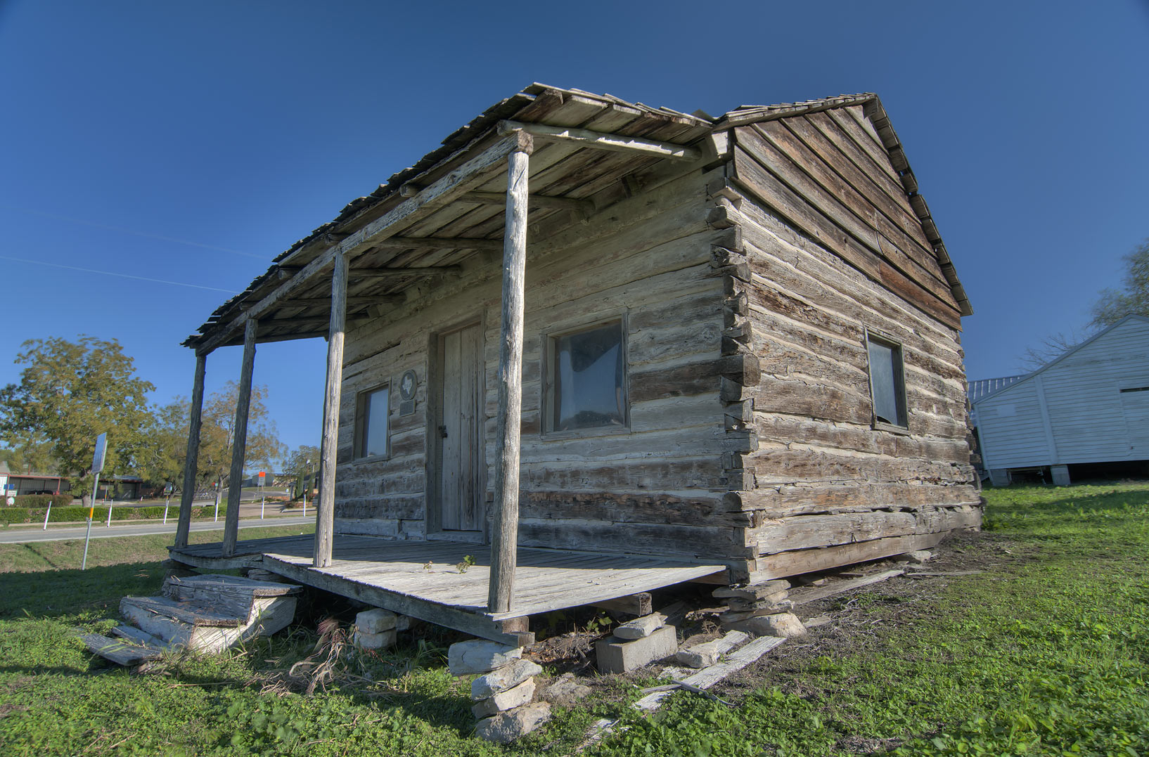 Steinhagen Log Cabin at morning. Anderson, Texas