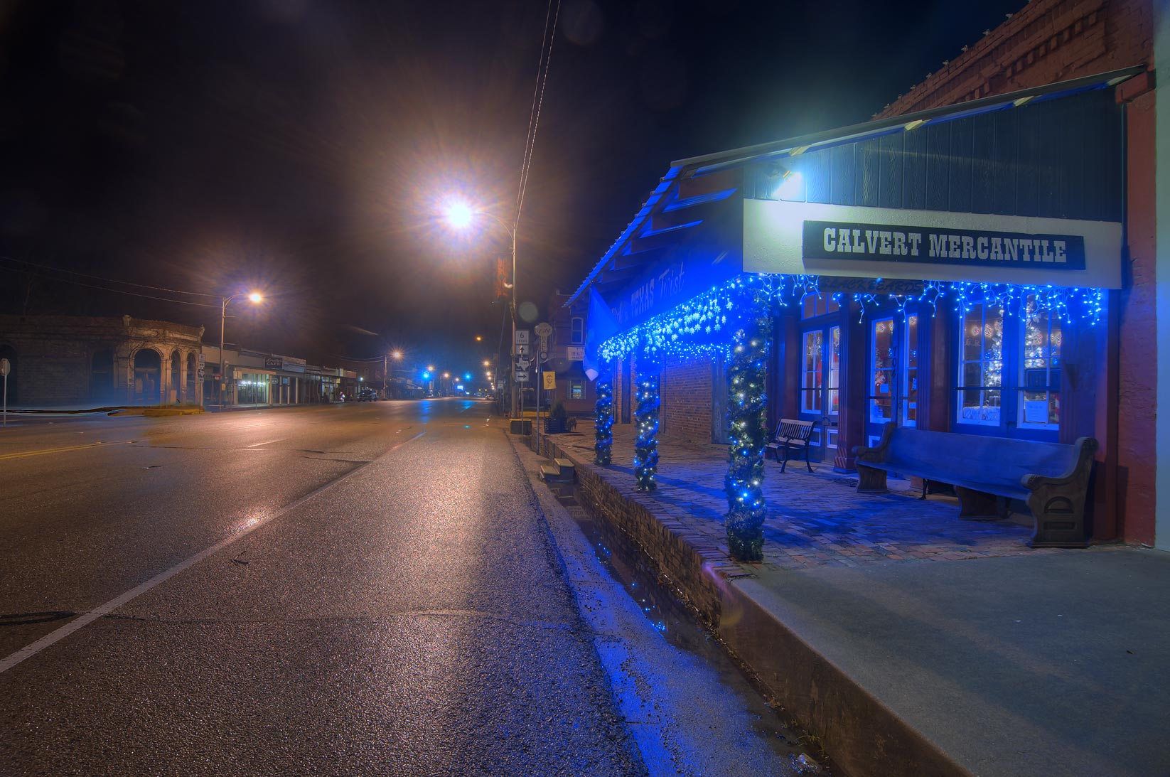 College Station-Calvert, Texas  - Main Street. Calvert, Texas