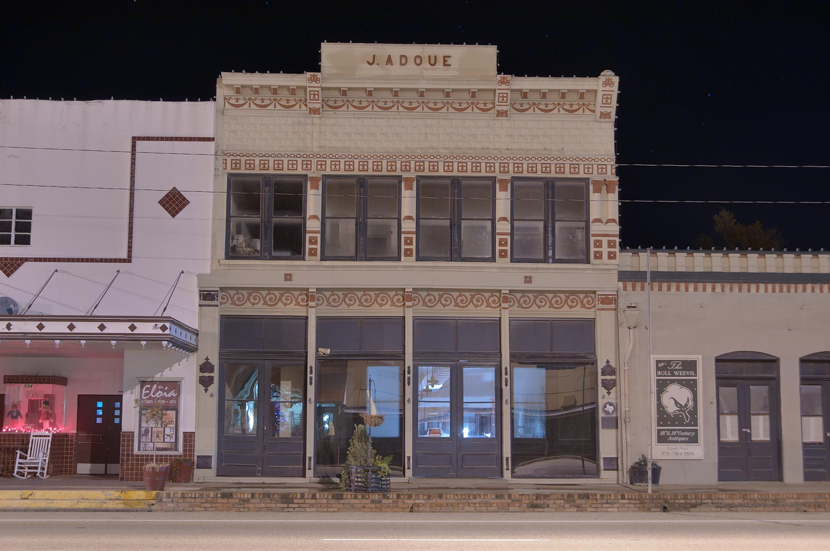 Jacques Adoue Building (1884) at 506 Main St.. Calvert, Texas