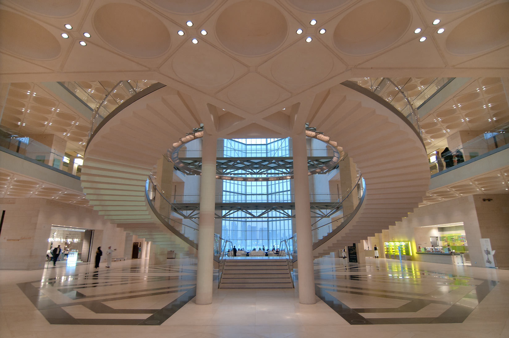 Stairs of Museum of Islamic Art. Doha, Qatar
