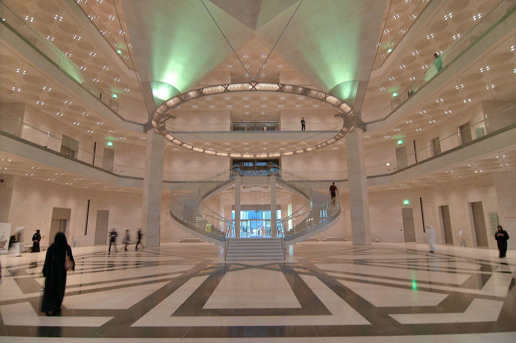 Ground floor of Museum of Islamic Art. Doha, Qatar