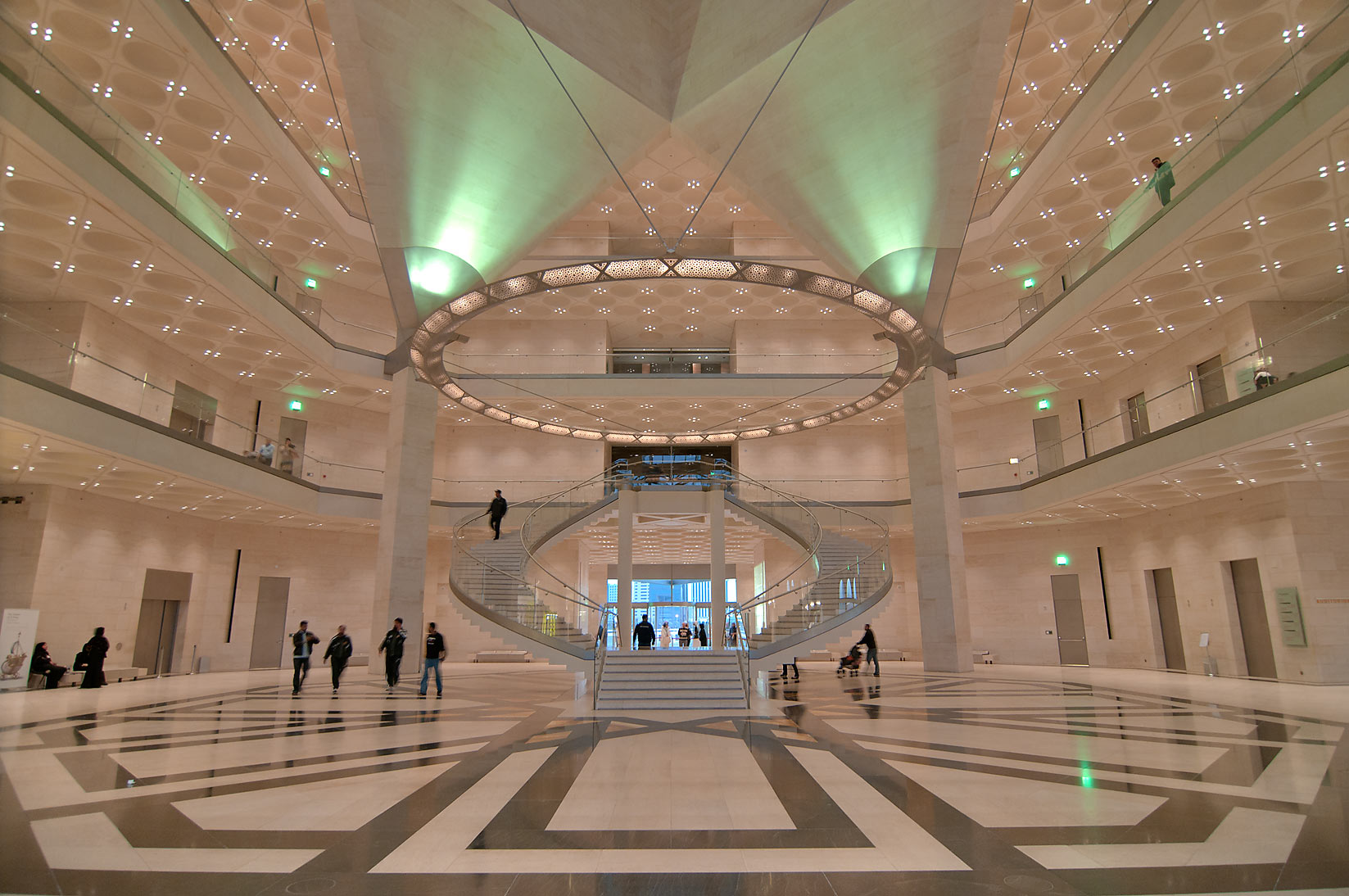 View of ground floor of Museum of Islamic Art. Doha, Qatar