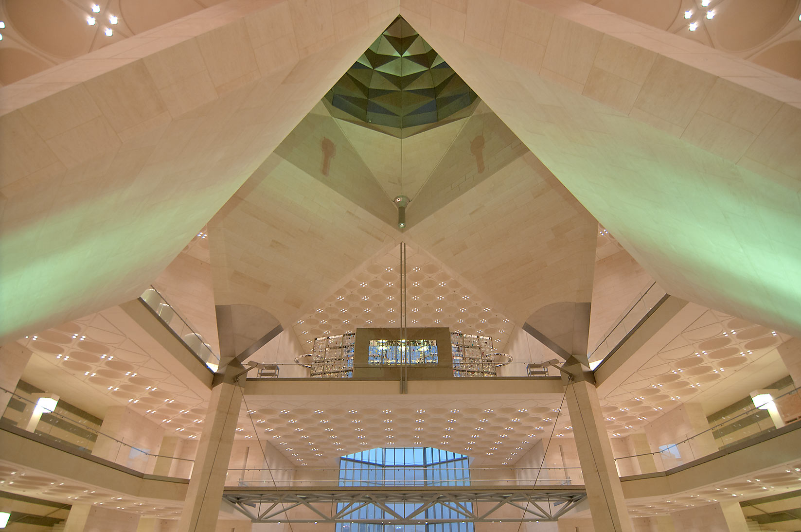 Dome of Museum of Islamic Art, view from the second floor. Doha, Qatar