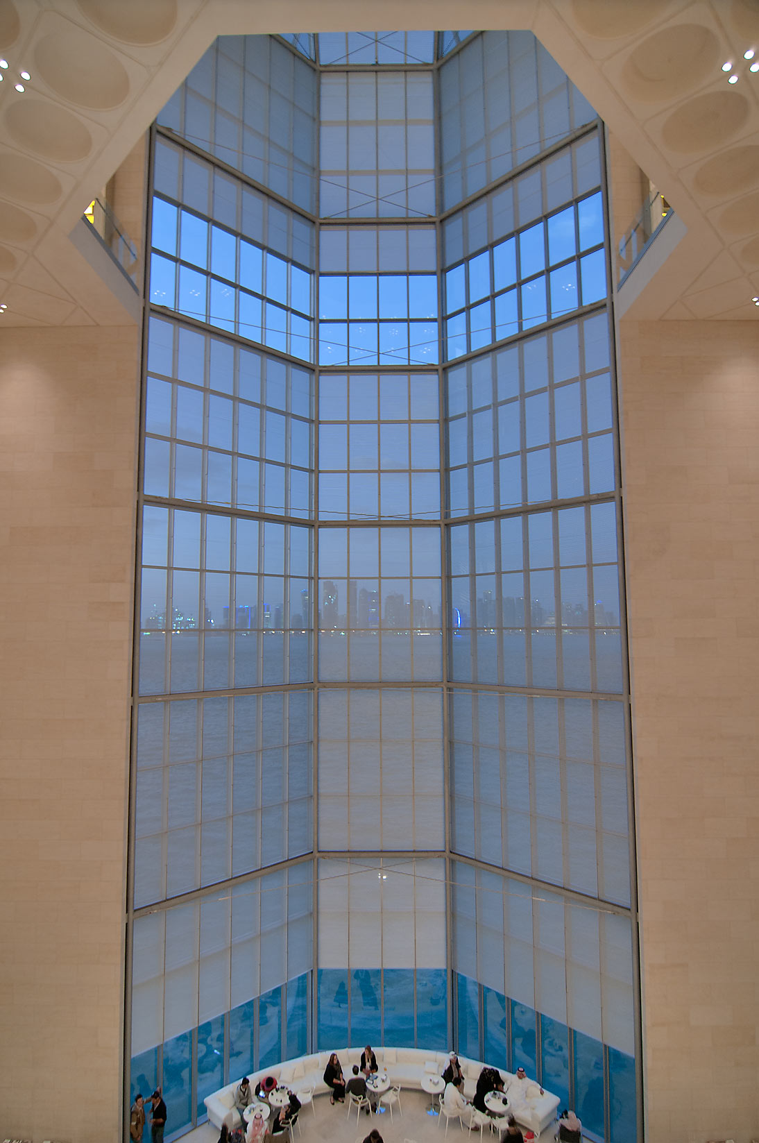5-storey window of Museum of Islamic Art. Doha, Qatar