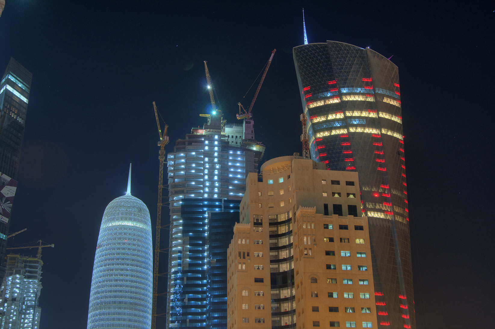 Al Bidda and other towers in West Bay. Doha, Qatar