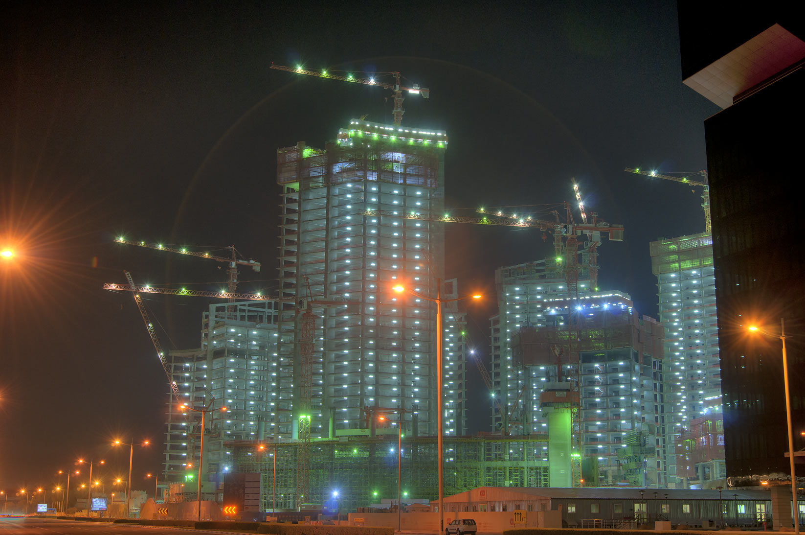 Barwa Financial Center, under construction. Doha, Qatar