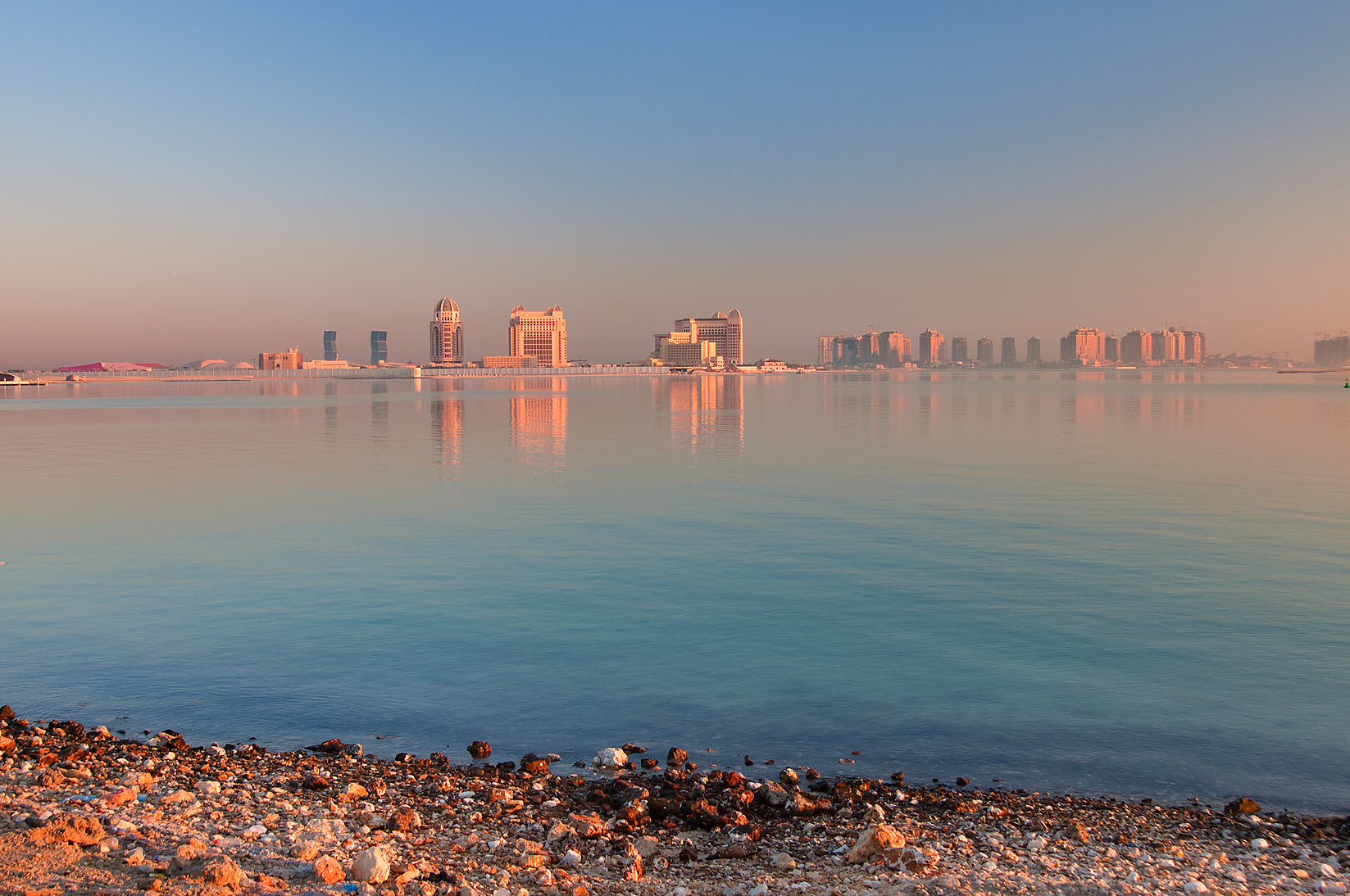InterContinental Hotel and the Pearl Development...near Asas Twin Towers. Doha, Qatar