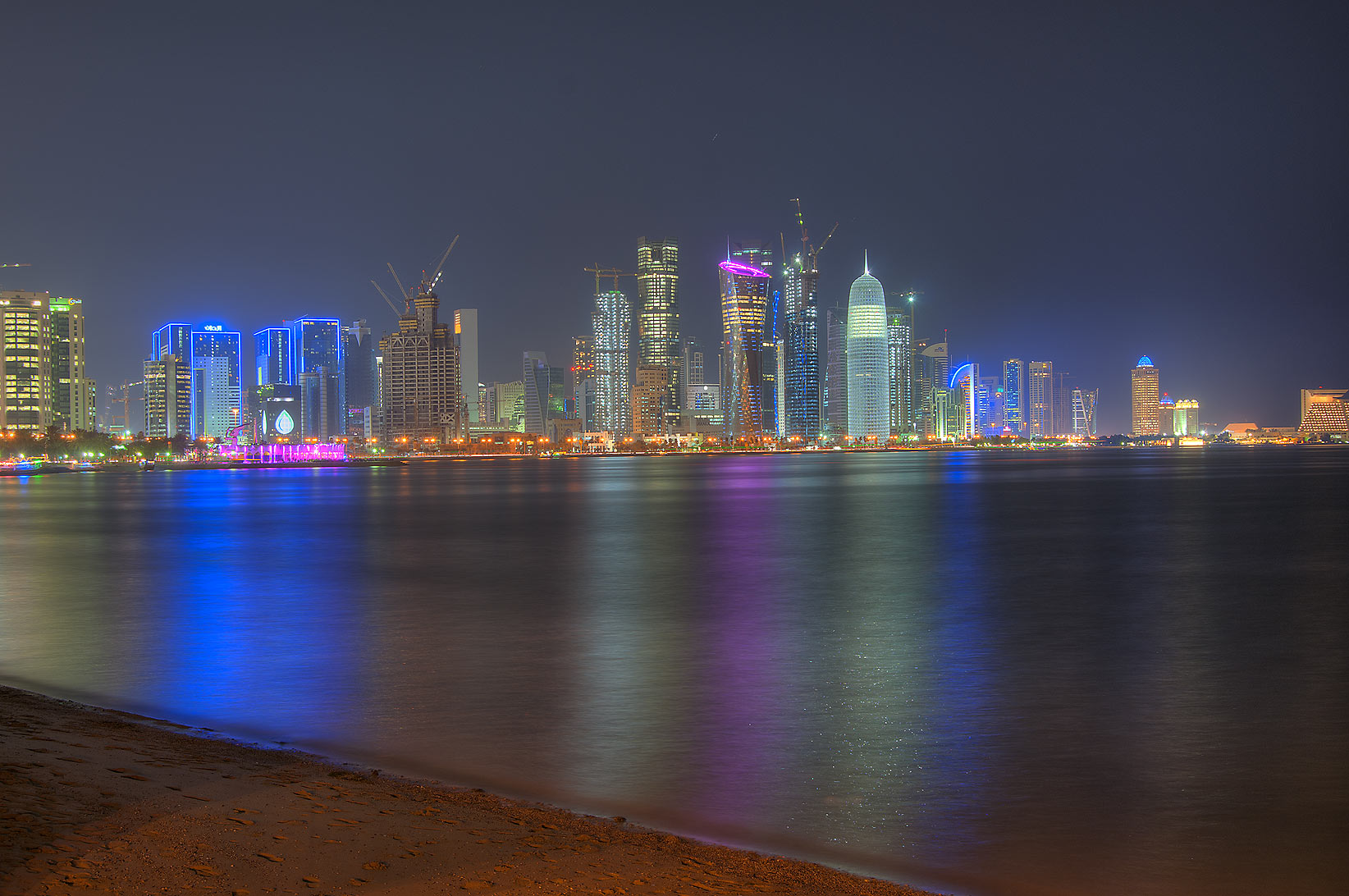 View of West Bay from Corniche near Al Bidda Park. Doha, Qatar